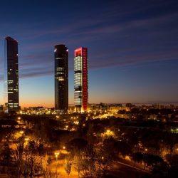 placing contractors in Spain - Madrid skyscrapers