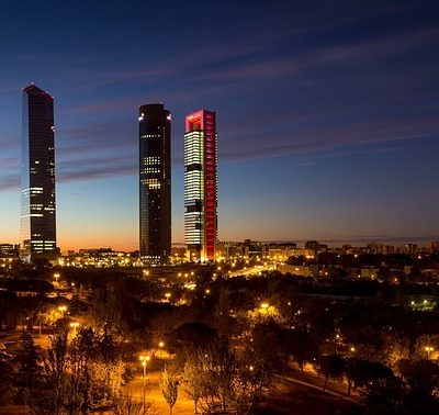 placing contractors in Spain - Madrid skyscrapers